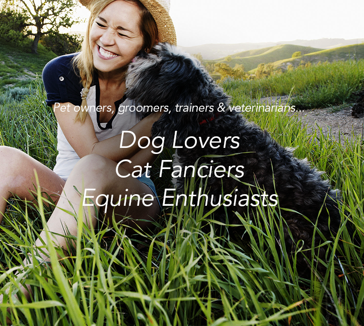 Dog lovers, cat fanciers, and equine enthusiasts
